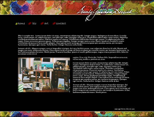Web Design for Beverly Derrick, Artist