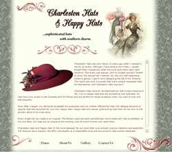 Charleston Hats New Website Design